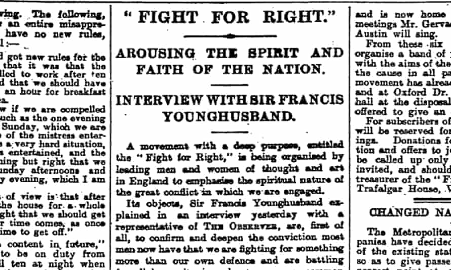 The Observer, 31 October 1915.