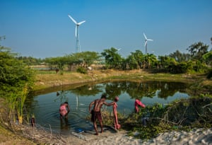 In the difficult coastal terrain of West Bengal, India, conventional supply of electricity is made difficult by storms, thundershowers and heavy rainfall. But windmills have changed the scenario as they take advantage of the normal coastal breeze. The dynamics of conventional rural living have changed, and power can now reach remote areas.