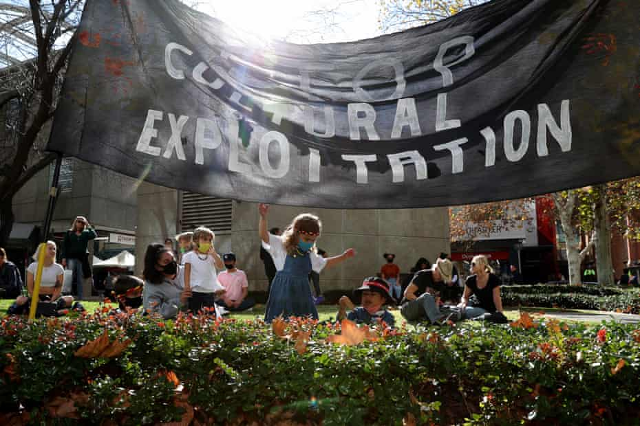A protest held against Rio Tinto in Perth in June 2020