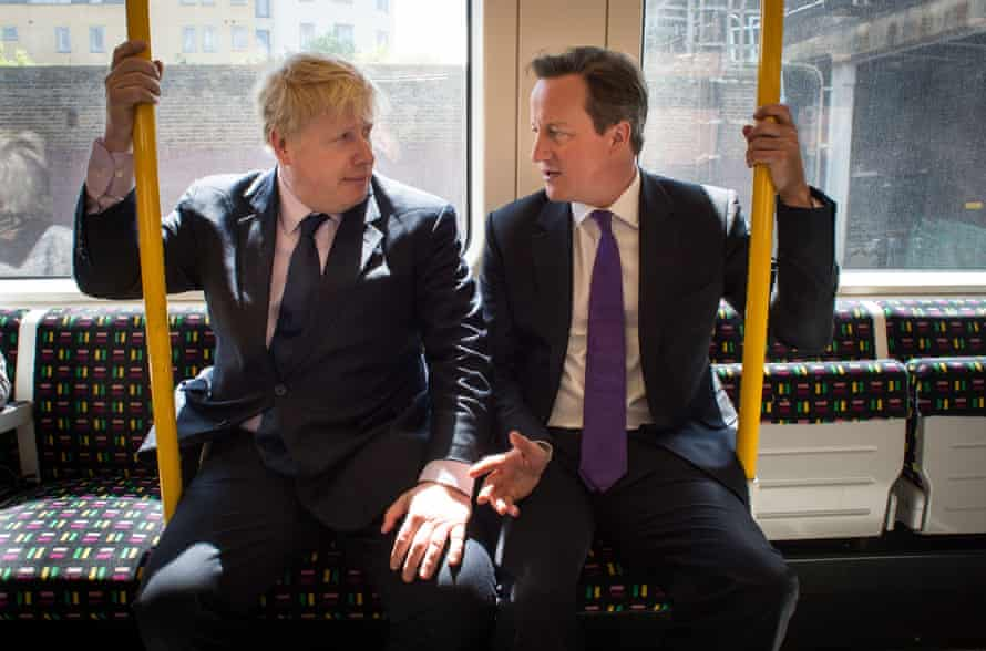 David Cameron and Johnson on the campaign trail in 2014.
