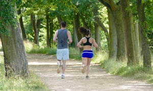 People jogging in a park