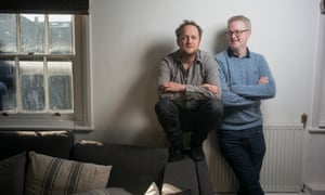 Jack [blue sweater] and Harry Williams the brothers who wrote BBC series The Missing and produced comedy hit Fleabag