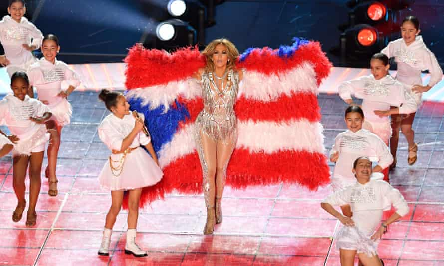 Home truths: Jennifer Lopez performs during the halftime show of Super Bowl LIV in Miami Gardens, Florida.
