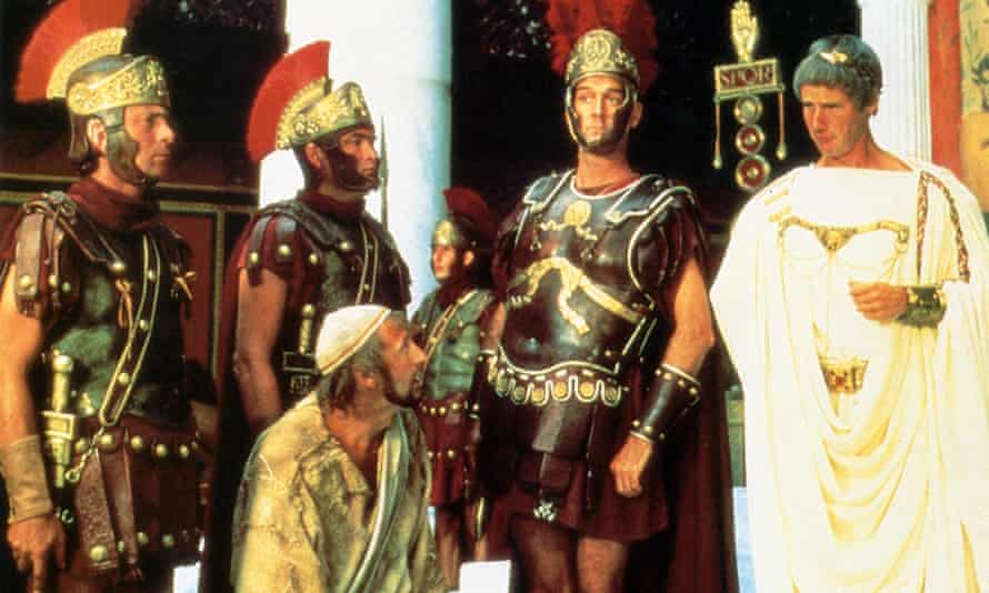 The soldier's slighter laugh In Monty Python's Life of Brian is genuine as they had no idea what would happen