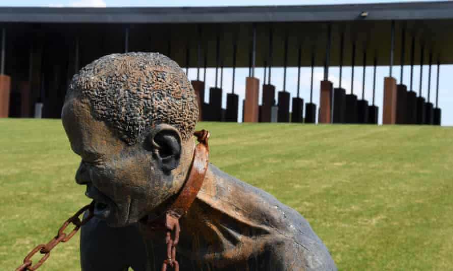The US national slavery memorial in Alabama. Federal lawmakers have advanced plans for reparations commission.