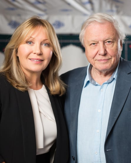 Kirsty Young with her favourite guest, Sir David Attenborough.