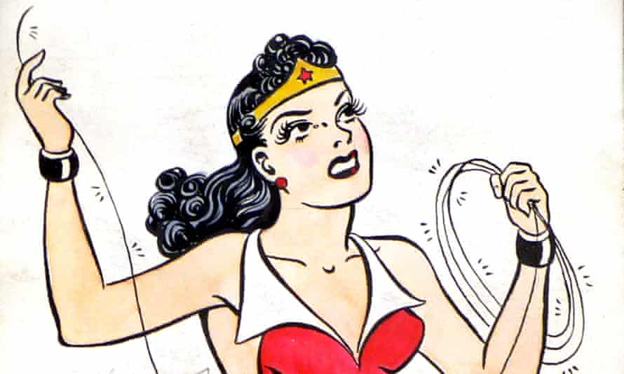Cracking the whip: HG Peter's Drawing of Wonder Woman in Costume, c. 1941.