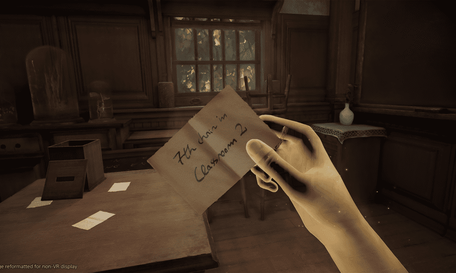 Uncovering clues around the house in Déraciné lets you influence the lives of the people living there