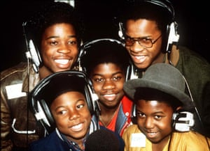 Musical Youth … clockwise from top left: Junior and Patrick Waite, Dennis Seaton, Michael and Kelvin Grant at Capital Radio, London, in 1982.