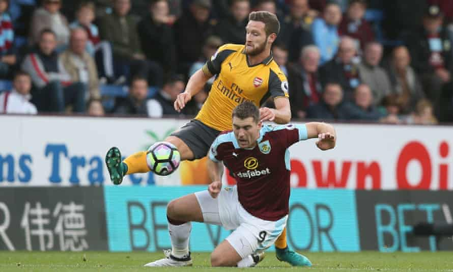 Shkodran Mustafi was strong in the air and on the ground during a relentless duel with Sam Vokes