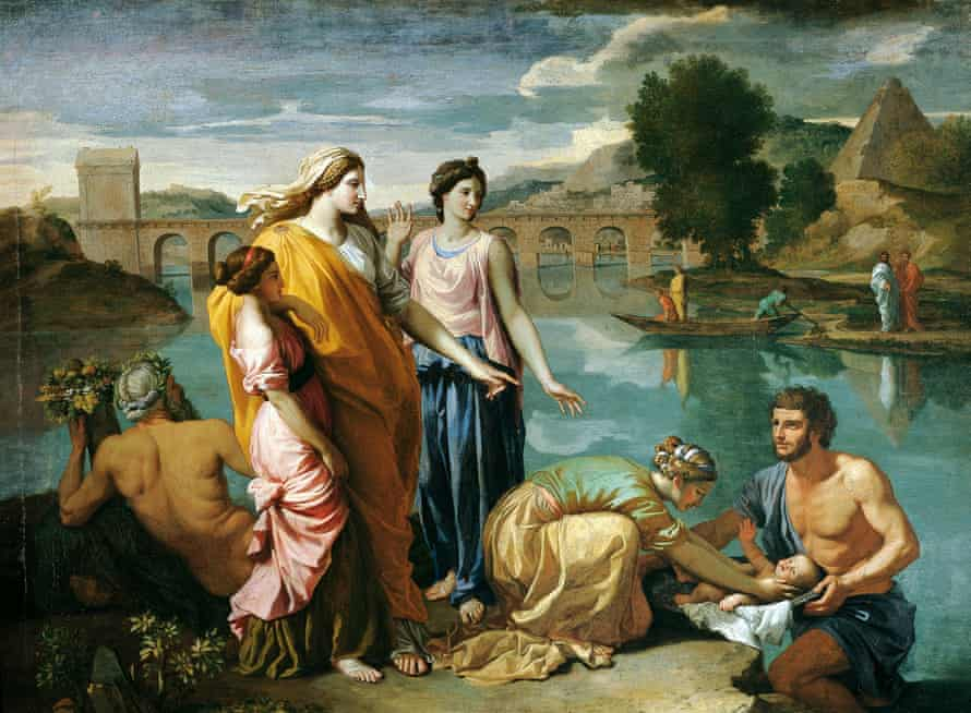 The Finding of Moses, 1638, by Nicolas Poussin, in the Louvre museum, Paris.