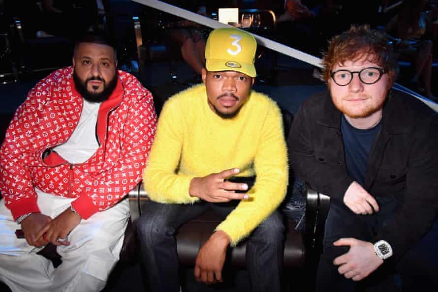 DJ Khaled, Chance The Rapper and Ed Sheeran.
