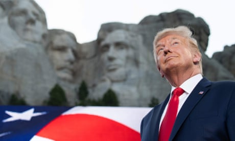 Donald Trump says US 'under siege from far-left fascism' in Mount Rushmore speech – video