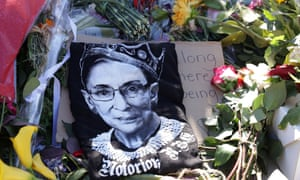 Floral tribute to Ruth Bader Ginsburg