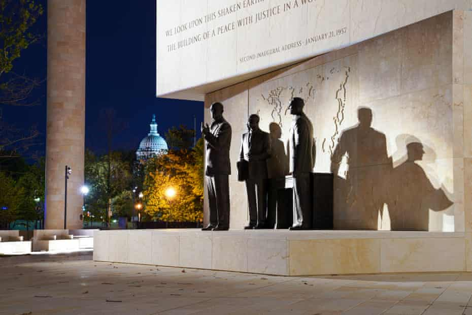 the new Dwight D Eisenhower memorial by Frank Gehry.