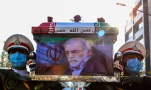 The funeral of Iranian scientist Mohsen Fakhrizadeh.