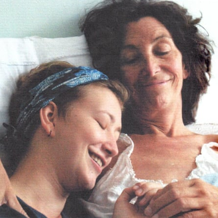 Anna Campbell with her mother Adrienne