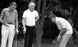 Bruce Forsyth on the golf course, with Eric Sykes and Jimmy Tarbuck, 1969.