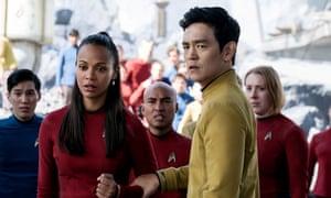 The ultimate fan service: Zoe Saldana as Uhura, John Cho as Sulu in Star Trek Beyond.