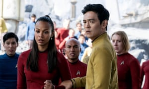 John Cho as Sulu in Star Trek Beyond. George Takei, who first played Sulu, has taken issue with the fact that the character will have a husband in the new film.
