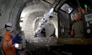 Construction in 2015 on the Crossrail project