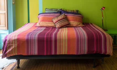The guest bedroom with its Missoni bed linen.