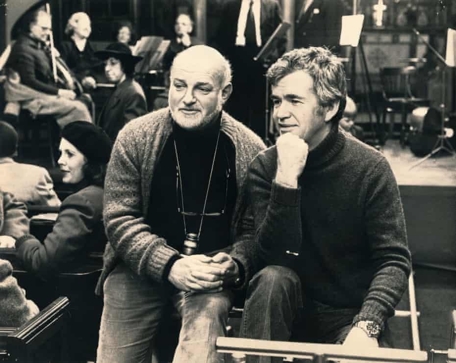 Jim Clark (right) with John Schlesinger
