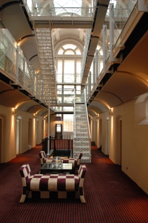 The Malmaison boutique hotel in Oxford, which used to be the town's old castle prison.