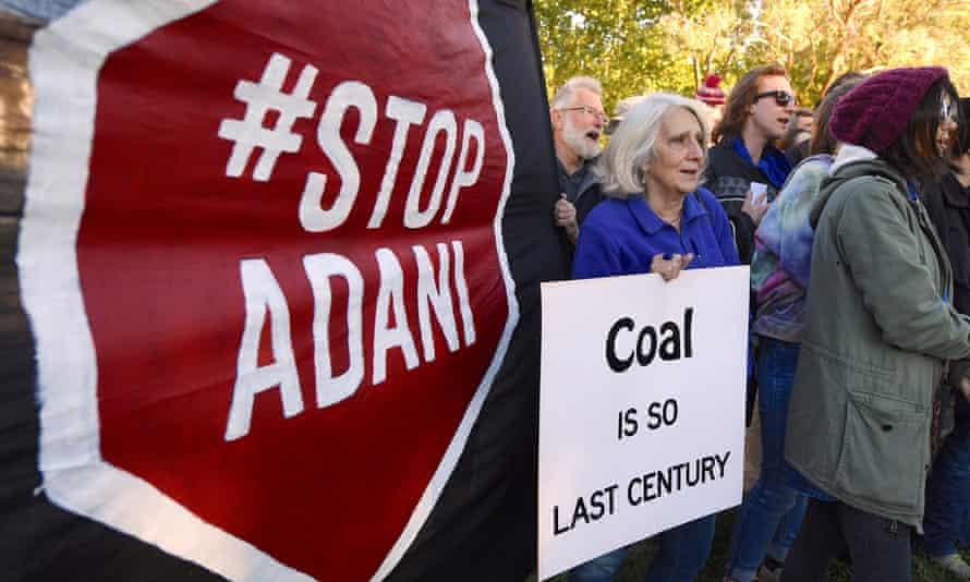 An anti-Adani protest in Canberra