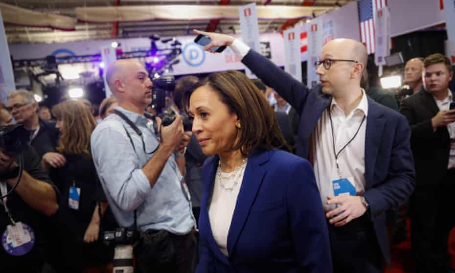 Kamala Harris stressed the need to 'speak the truth' on race and other issues, but some detected bias against her as a black woman in the media's treatment of her campaign.