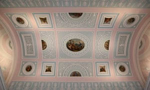 The decorative ceiling in the library of English Heritage's Kenwood House, one of the sites included in the project