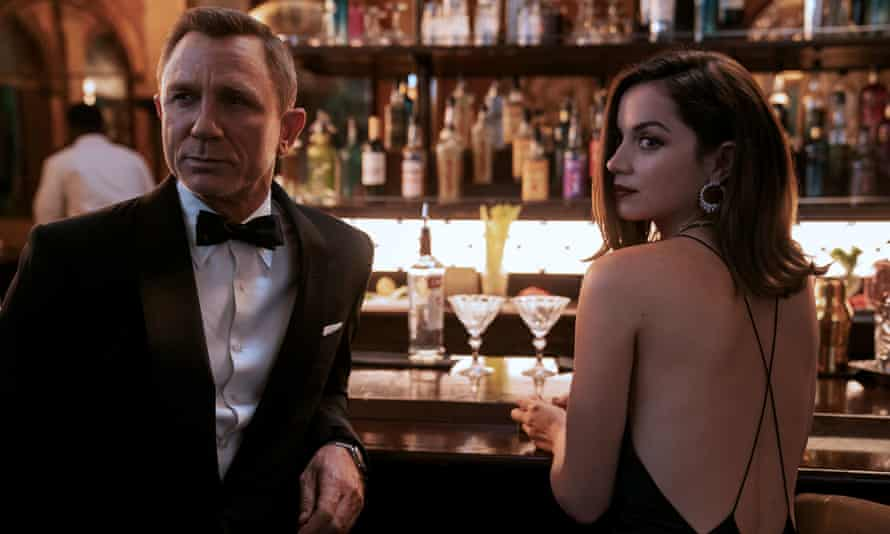 Daniel Craig playing James Bond and Ana de Armas playing Paloma in the next Bond film No Time to Die.