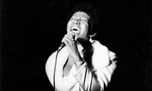 Aretha Franklin performing in 1968.