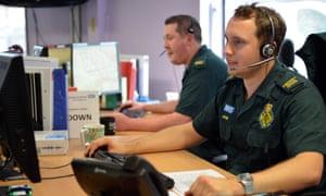 Emergency medical advisors handling calls