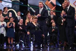 Tanni Grey-Thompson receives the lifetime achievement award.
