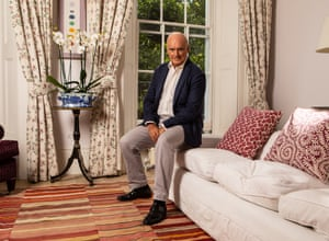 Nicholas Coleridge photographed at home in London this month by Antonio Olmos for the Observer.