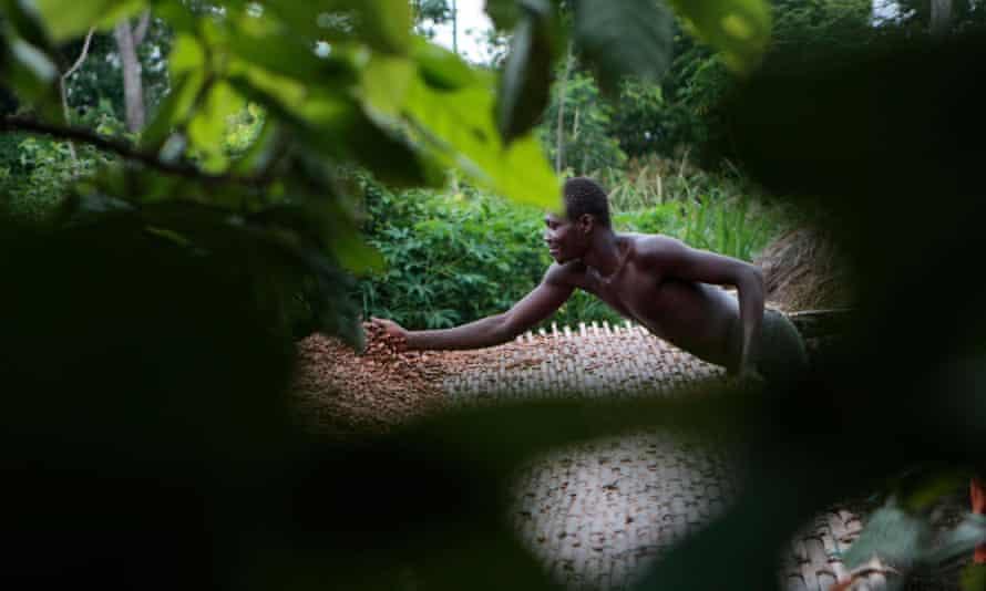 Cocoa farmer Issiaka Ouedraogo