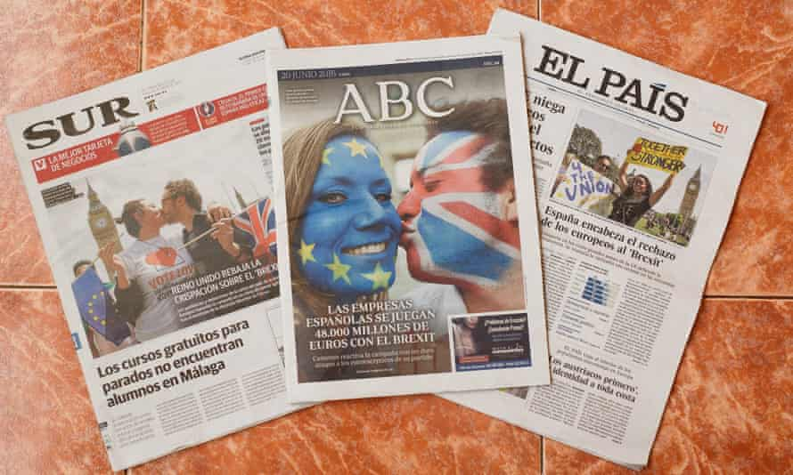 The EU referendum dominates front pages of Spanish newspapers.