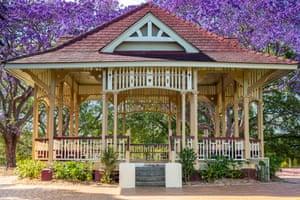A gazebo in New Farm Park, Brisbane