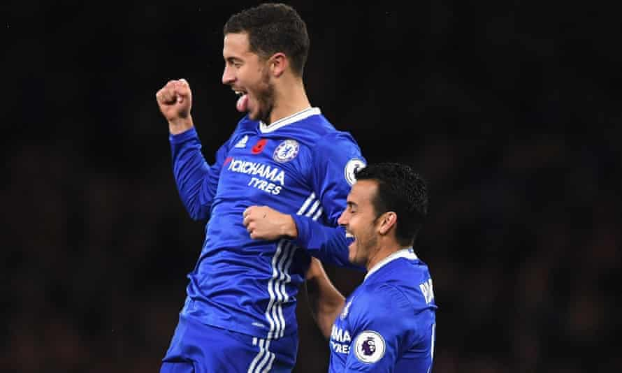 Eden Hazard and Pedro have profited from Chelsea's switch to a back three.