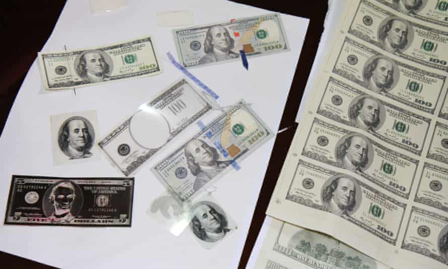 Counterfeiters use sophisticated scanning, printing and design software to print millions of dollars in fake currency