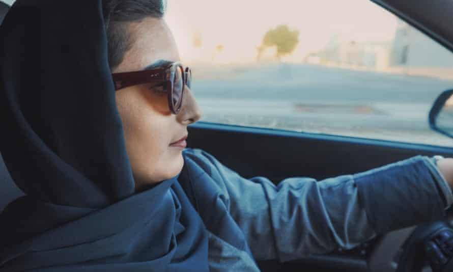 Shahad Al-Humaizi, who works as an Uber driver