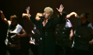 Clear-eyed conviction … Emeli Sandé at the Brits.