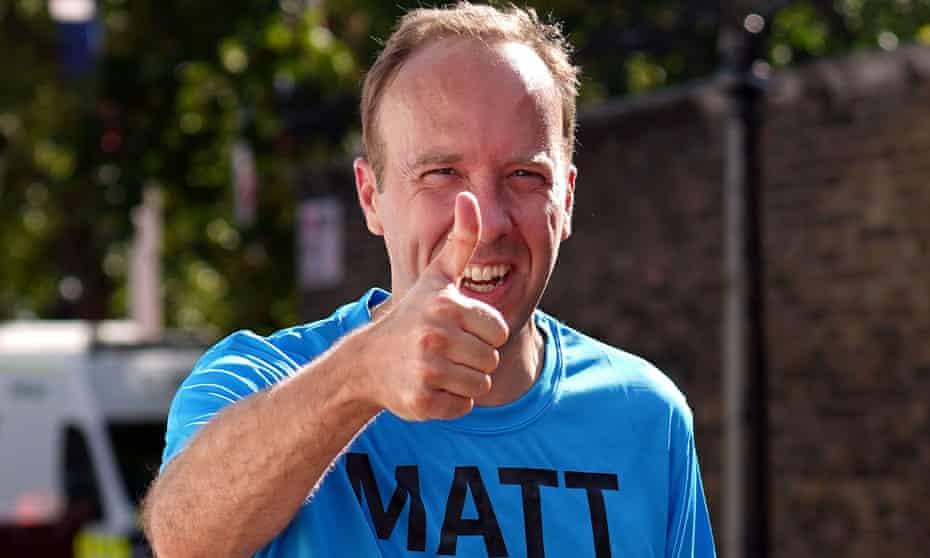 Matt Hancock running the London Marathon on 3 October