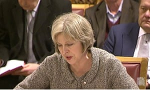 Theresa May is giving evidence to the joint committee scrutinising the draft investigatory powers bill