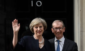 Theresa May and her husband, Philip, an investment manager.