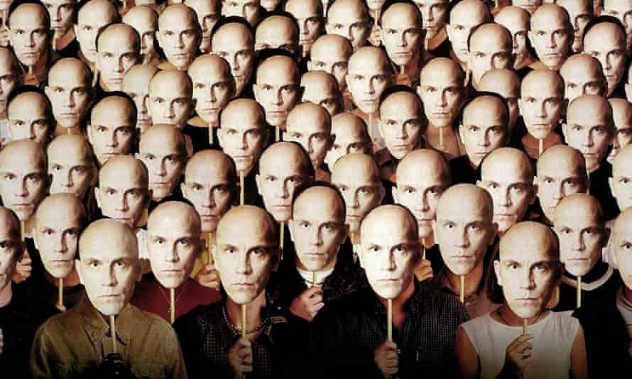Multiple pictures of John Malkovich from the film Being John Malkovich