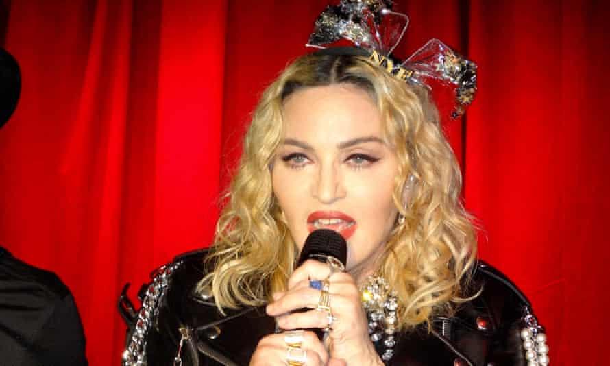 Madonna at the Stonewall Inn, New York.
