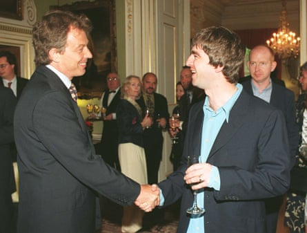 Celebrity summit … Tony Blair and Noel Gallagher at No 10.