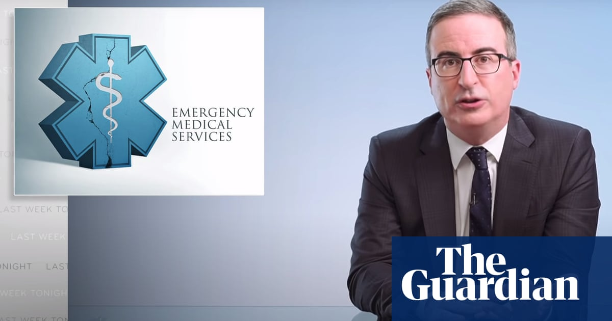 John Oliver on emergency services: 'For that label to mean something, it has to come with funding'